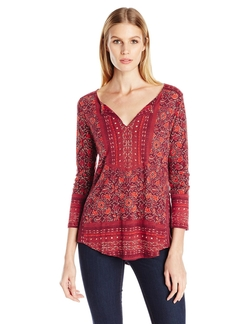 Women's Block Floral Top by Lucky Brand in Modern Family