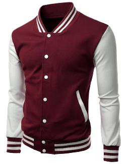 Men's Stylish High Quality Fabric Baseball Jacket by Xpril in Ride Along