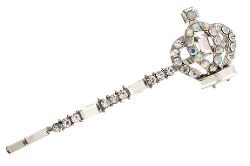 Silvertone Crown Charm Hair Pin by PammyJ Necklace in The Best of Me