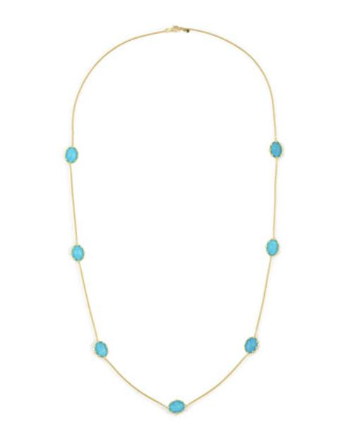 Tivoli Turquoise Station Necklace by Frederic Sage in Laggies