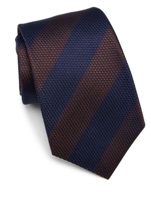 Striped Silk Tie by Kiton in Sully
