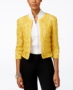 Floral-Lace Cropped Cardigan by Anne Klein in Grace and Frankie