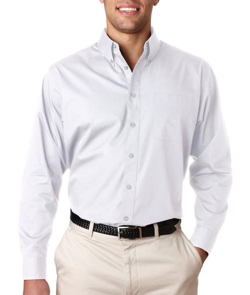 Adult Performance Poplin Dress Shirt by Ultraclub in Limitless