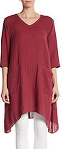 Taryn Linen Tunic by Lafayette 148 New York in Trainwreck