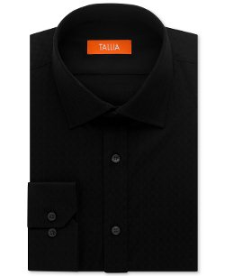 Slim-Fit Black Print Dress Shirt by Tallia in The Divergent Series: Insurgent