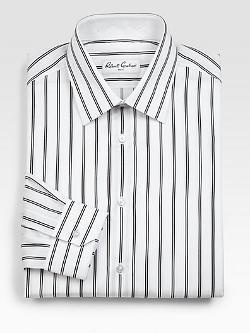 Satin Stripe Dress Shirt by Robert Graham in Let's Be Cops