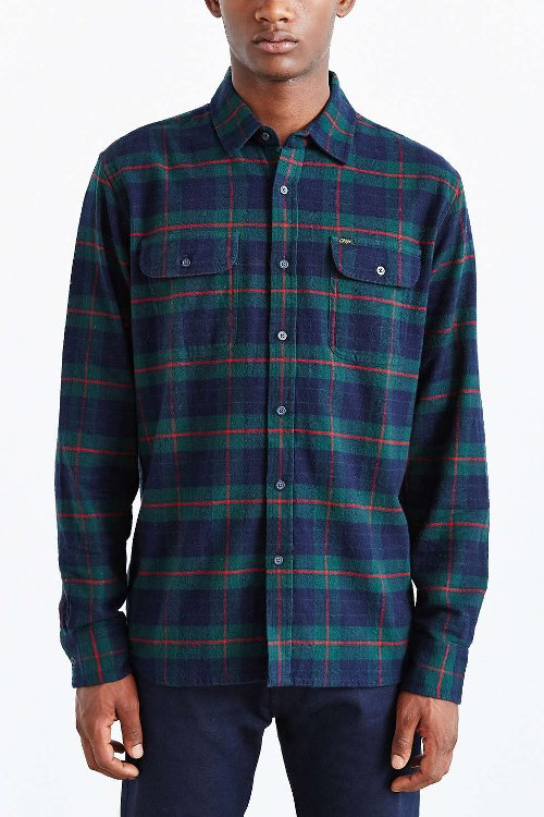 Morton Plaid Button-Down Shirt by Obey in If I Stay