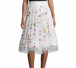 Catrina Embroidered Tulle Skirt by Alice + Olivia in The Good Place