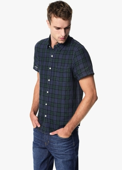 Slim Fit Short Sleeve Shirt by Joe's Jeans in Downsizing