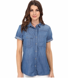 Multiple Pocket Denim Shirt by 7 For All Mankind in Fuller House