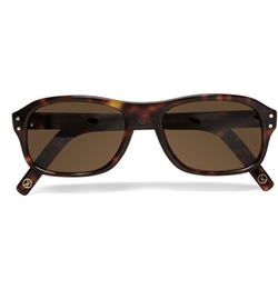 Tortoiseshell Acetate Square-Frame Sunglasses by Cutler And Gross in Kingsman: The Secret Service