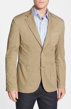Trim Fit Cotton Blazer by Di Milano Uomo in Begin Again