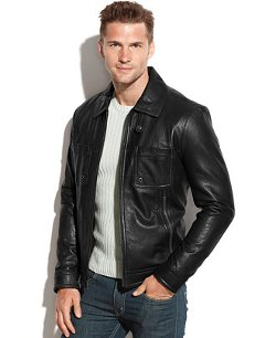 Full-Zip Leather Jacket by Kenneth Cole in Horrible Bosses 2
