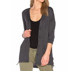 Cashmere Blend Lace Up Cardigan by Splendid in Quantico