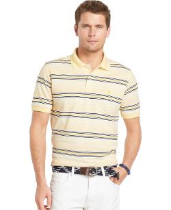 Oxford Pique Striped Polo by Izod in Jersey Boys
