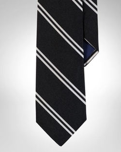 Striped Silk Repp Narrow Tie by Polo Ralph Lauren in Suits
