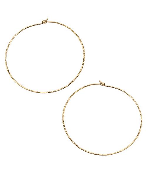 Hammered Hoop Earrings by Charlene K in Pretty Little Liars - Season 6 Episode 10