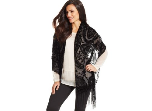 Paisley Velvet Evening Wrap by Style&co. in If I Stay