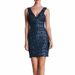 'Sam' Plunge Sequin Body-Con Dress by Dress The Population in Pitch Perfect 3