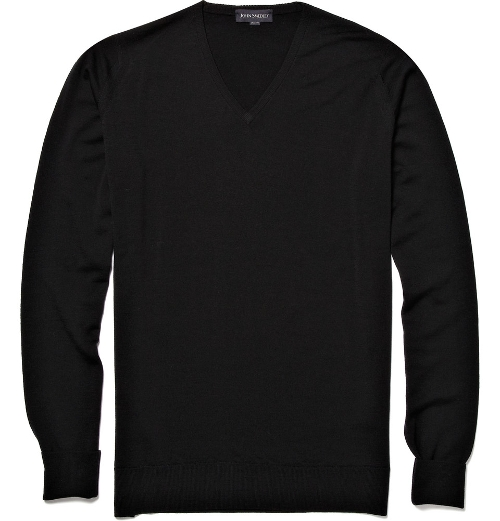 V-Neck Merino Wool Sweater by John Smedley in Self/Less
