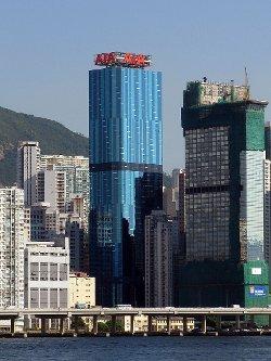 Hong Kong, China by AIA Tower in Blackhat