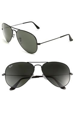 'Original Aviator' Sunglasses by Ray-Ban in Black Mass