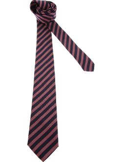 Striped Silk Tie by Lanvin in Blackhat