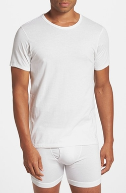 Slim Fit Cotton Crewneck T-Shirt by Calvin Klein in Ballers