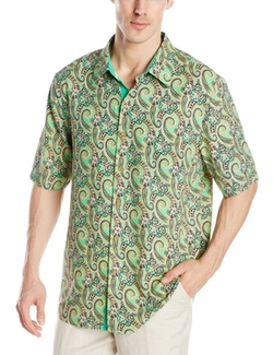 Haring Paisley Short-Sleeve Button-Front Shirt by Nat Nast in Pitch Perfect 2