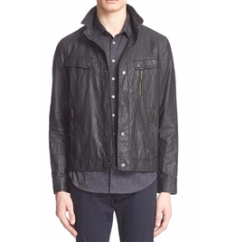 Distressed Washed-Linen Jacket by John Varvatos in Shadowhunters