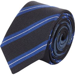Diagonal Stripe Tie by Lanvin in Black or White