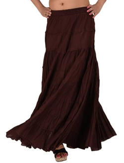 Women's Casual Long Maxi Skirt by Skirts 'N Scarves in Captive