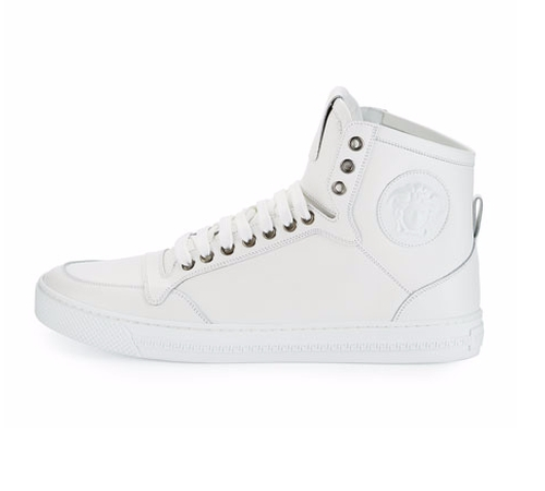 Leather High-Top Sneaker by Versace in Chelsea - Season 1 Episode 1