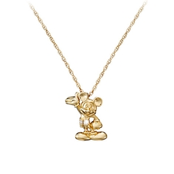 Mickey Mouse Figure Diamond Necklace by Disney Store in Suits