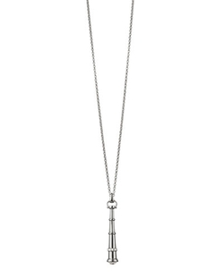 Silver Curiosity Telescope Necklace by Monica Rich Kosann in Burnt
