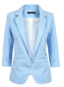 Women's Casual Work Solid Blazer by Hunger Shopping in The Longest Ride
