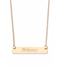 Personalized Script Bar Pendant Necklace by Argento Vivo in Chelsea