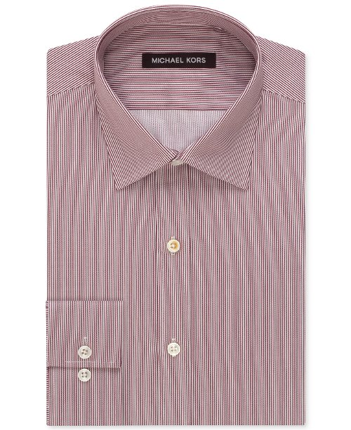 Cranberry Fineline Stripe Dress Shirt by Michael Kors Collection in The Gunman