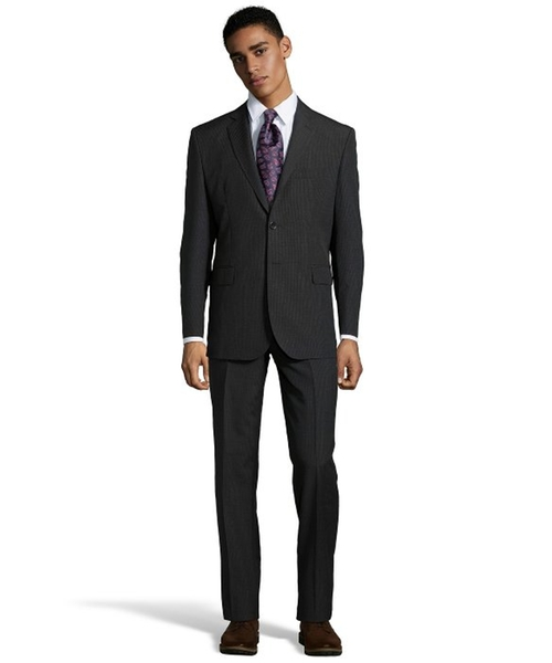 Wool 2-Button Suit by Yves Saint Laurent in The Mindy Project - Season 4 Episode 11