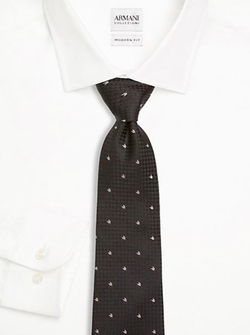 Herringbone Print Silk Tie by Armani Collezioni in The Blacklist