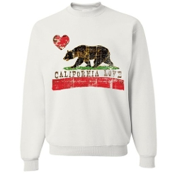 California Love Distressed Crewneck Sweatshirt by Dolphin Shirt Co in Entourage