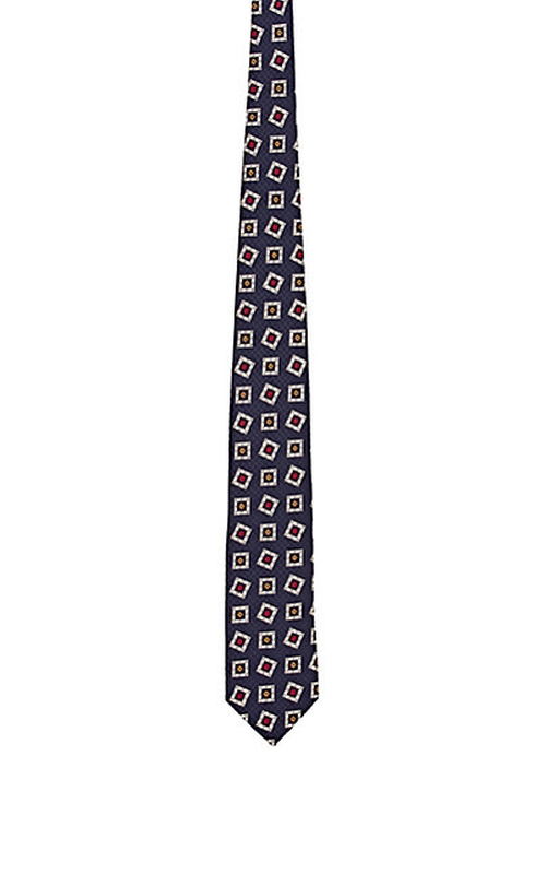 Square Medallion Pattern Necktie by Drake's in GoldenEye