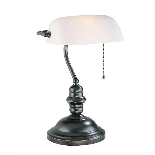 Banker Table Lamp by Lite Source Inc. in Oculus