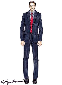 Custom Made Pinstripe Suit by Giorgio Armani in The Wolf of Wall Street