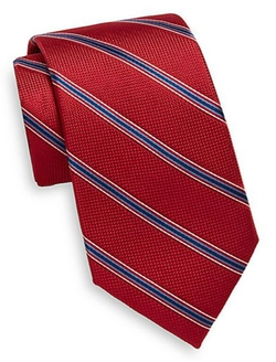 Striped Silk Tie by Saks Fifth Avenue in She's The Man