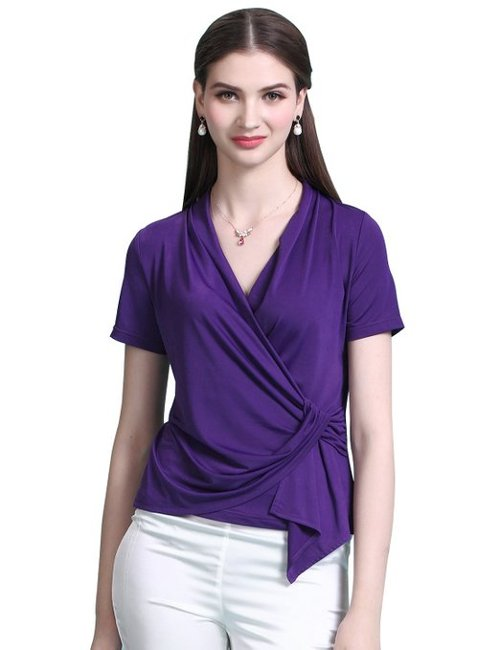 Wrap Surplice Blouse by Maxchic in That Awkward Moment