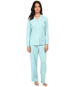 Notch Collar Pajama Set by Eileen West  in New Girl