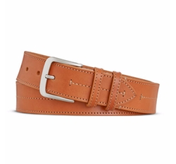 Bridle Center Stitch Leather Belt by Shinola in Scream Queens