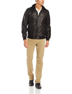 Men's Open Bottom Leather Jacket by Elie Tahari in John Wick