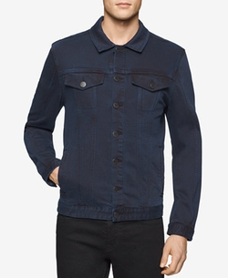 Men's Twill Trucker Jacket by Calvin Klein Jeans in Animal Kingdom